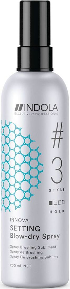 Indola Спрей для быстрой сушки волос Setting #3 Style Innova, 200 мл осис нов blow go smooth экспресс спрей гладкость для быстрой сушки волос 200 мл