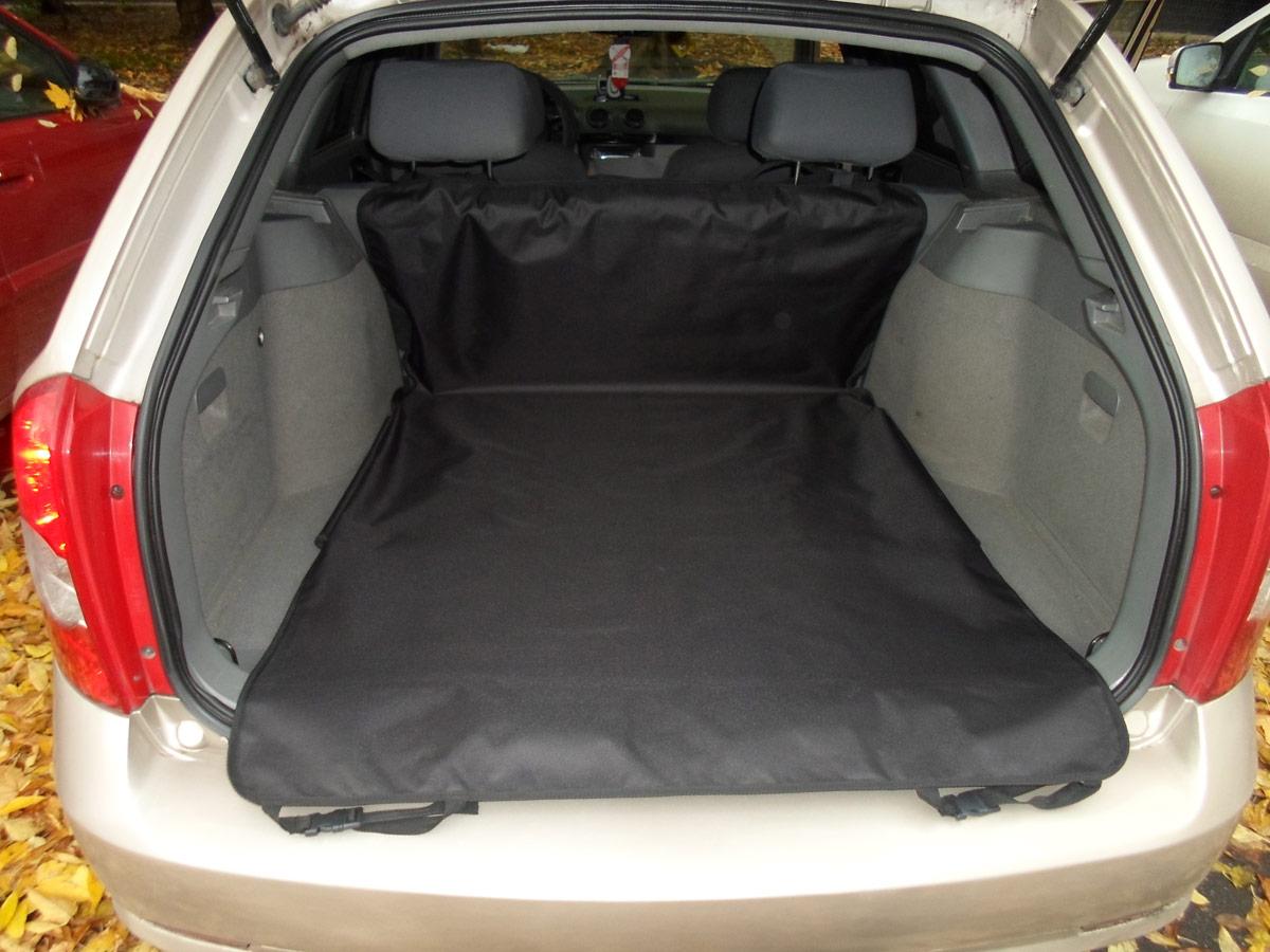Накидка защитная для животных AvtoPoryadok 2 в 1, в салон и багажник, цвет: черный, 185 х 130 см, размер L накидка защитная для животных avtoporyadok на переднее сиденье с карманом цвет серый 120 х 49 см