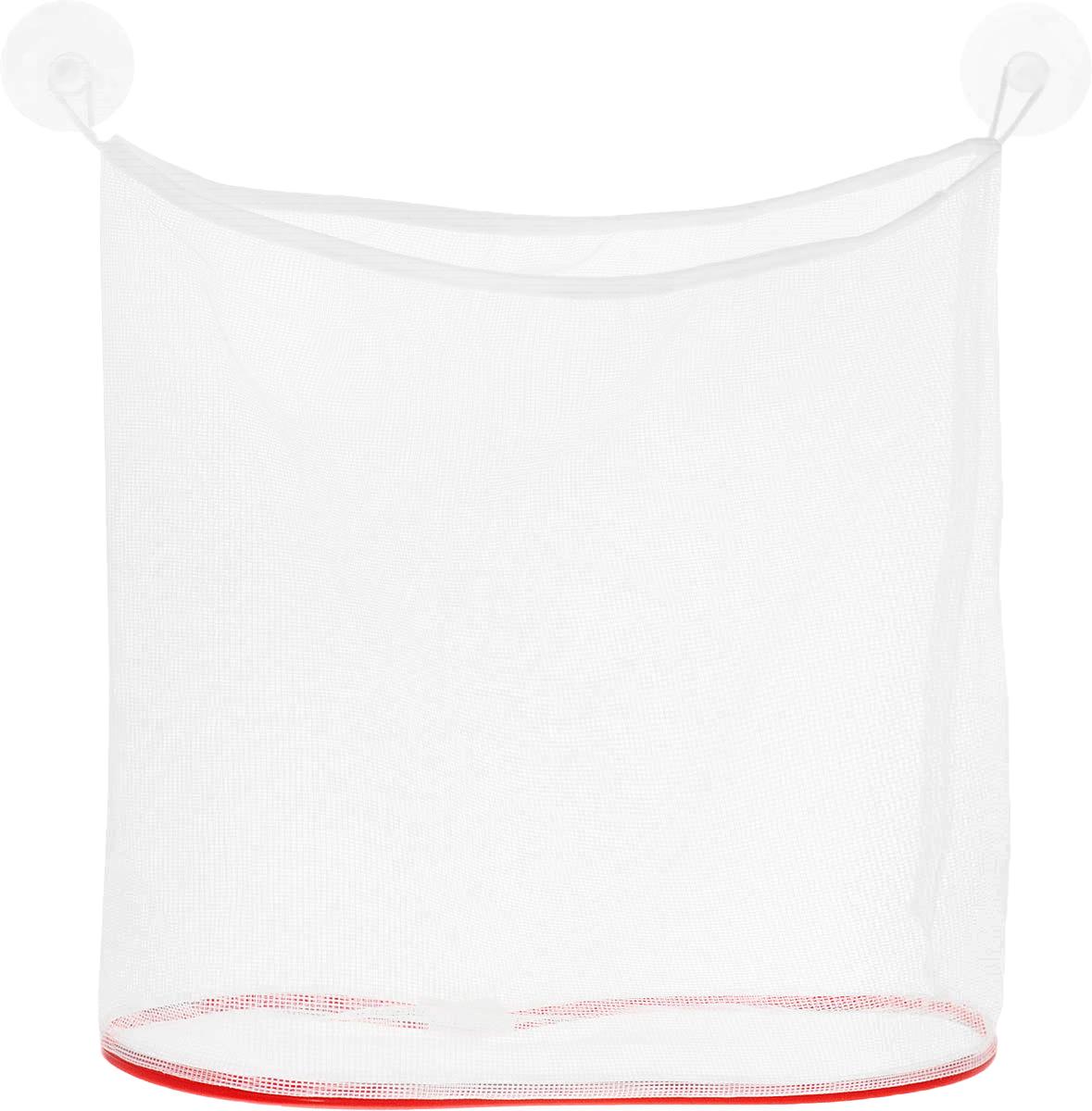Eva Сетка для игрушек и мелочей в ванную цвет красный белый