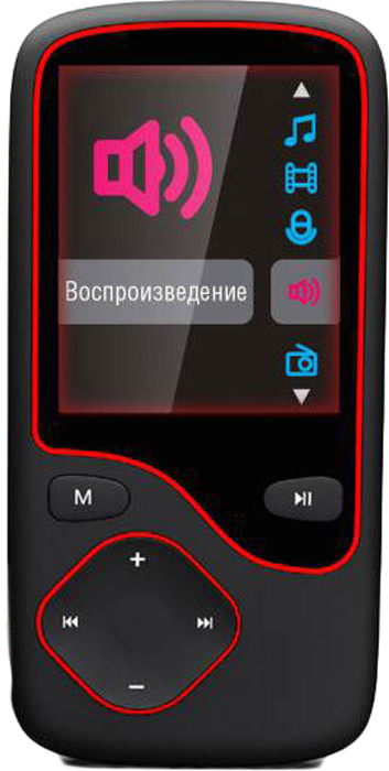 лучшая цена MP3 плеер Digma Cyber 3L 4Gb, Black Red