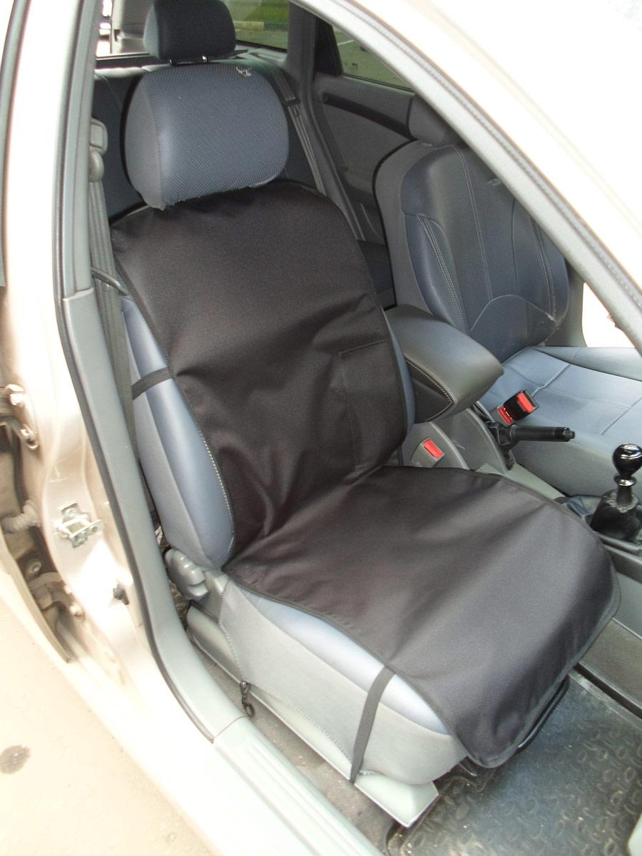 Накидка защитная для животных AvtoPoryadok, на переднее сиденье, с карманом, цвет: черный, 120 х 49 см накидка защитная для животных avtoporyadok на переднее сиденье с карманом цвет серый 120 х 49 см