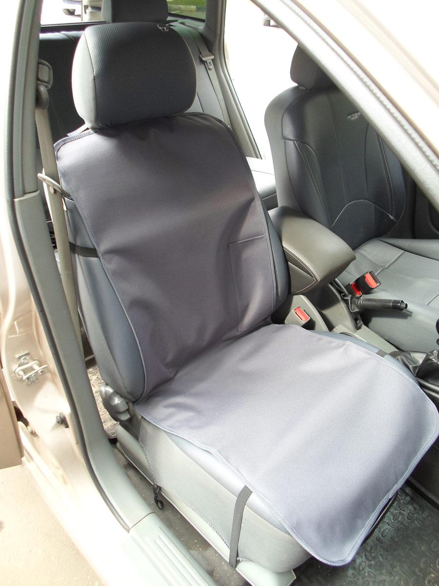 Накидка защитная для животных AvtoPoryadok, на переднее сиденье, с карманом, цвет: серый, 120 х 49 см накидка защитная для животных avtoporyadok на переднее сиденье с карманом цвет серый 120 х 49 см