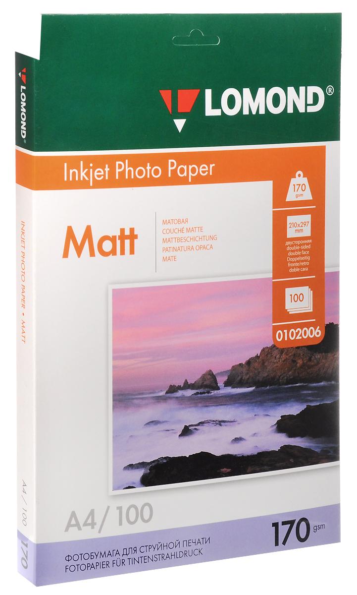 Lomond Inkjet Photo Paper матовая фотобумага, 100 листов (0102006)