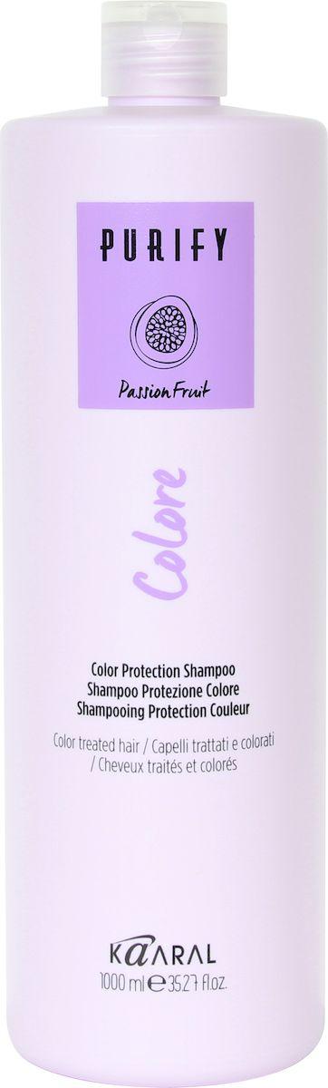 Kaaral Шампунь для окрашенных волос Purify Colore Shampoo, 1000 мл kaaral кондиционер для окрашенных волос purify colore conditioner 1000 мл