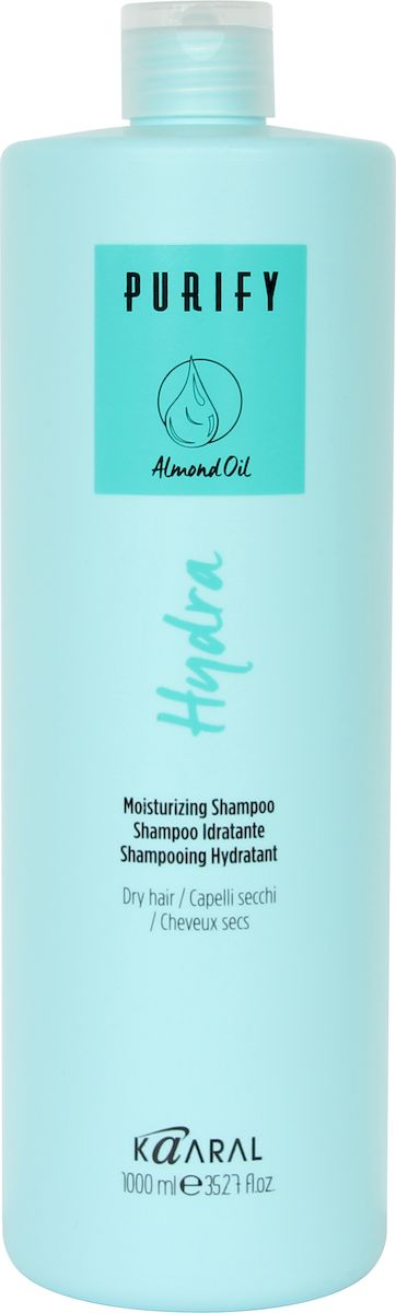 Kaaral Увлажняющий шампунь для сухих волос Purify Hydra Shampoo, 1000 мл