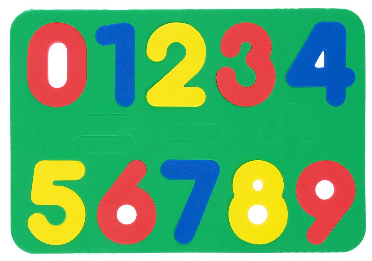 купить Бомик Пазл для малышей Цифры цвет основы зеленый по цене 126 рублей