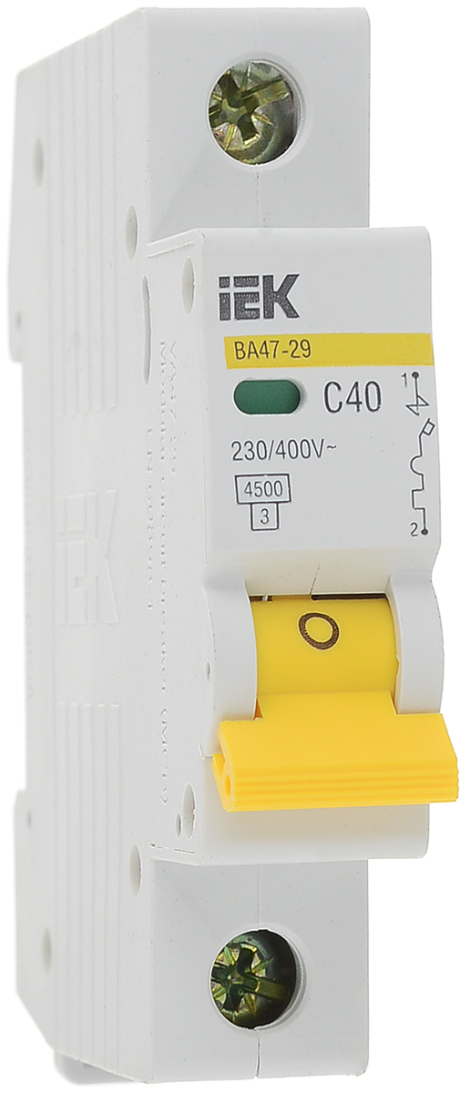 Выключатель автоматический IEK ВА47-29, 1П C 40А 4500А