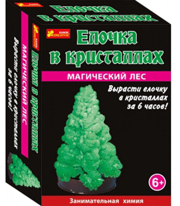 Ranok Набор для опытов Елочка в кристаллах цвет зеленый набор для выращивания ранок твоя фоторамка в кристаллах
