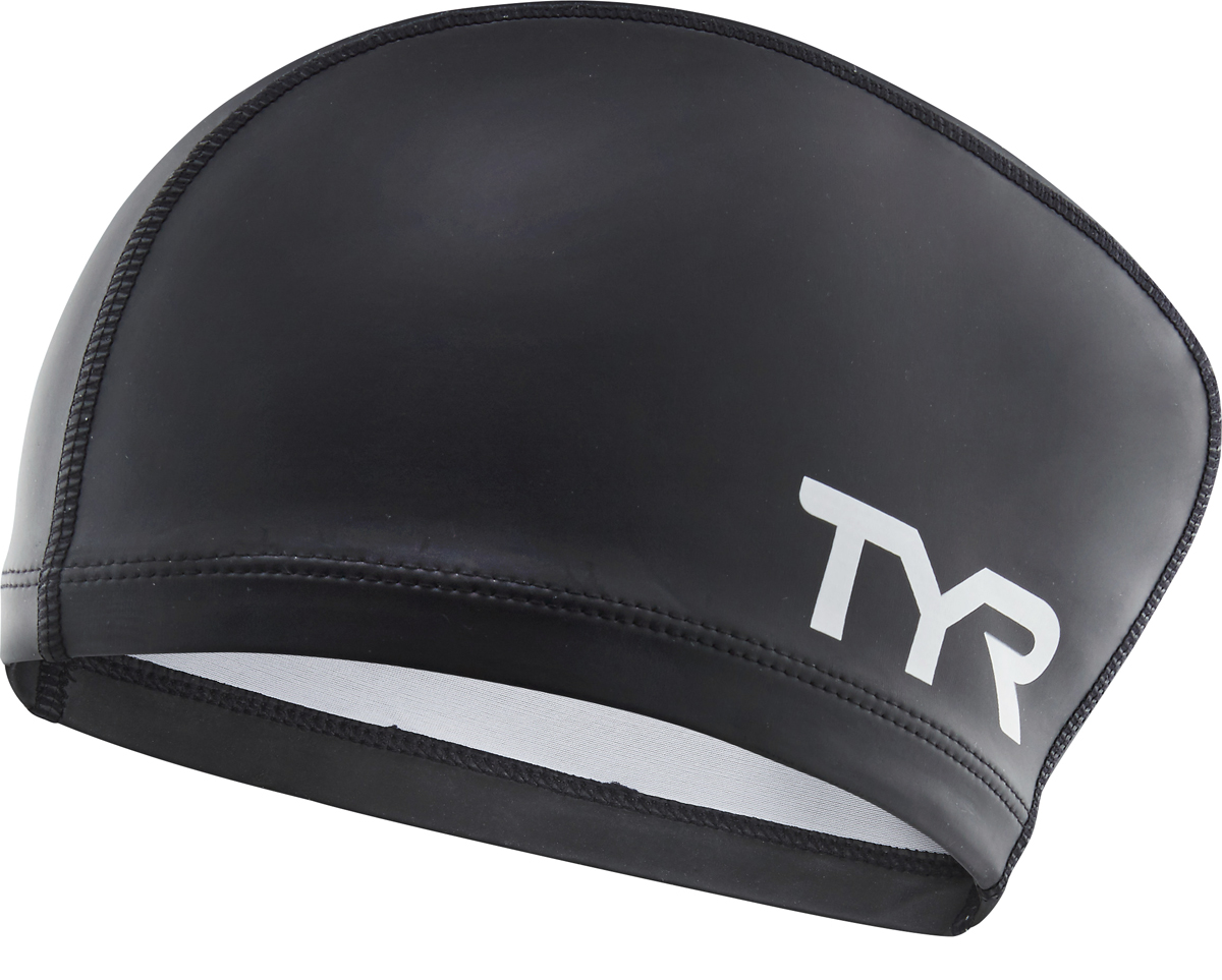 Шапочка для плавания Tyr Long Hair Silicone Comfort Swim Cap, цвет: черный. LSCCAPLH шапочка для плавания tyr latex swim cap цвет зеленый lcl
