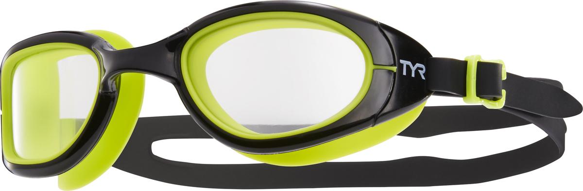 Очки для плавания Tyr Special Ops 2.0 Transition, цвет: черный, салатовый. LGSPX очки для плавания tyr tyr ty003duxis90