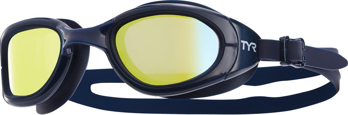 Очки для плавания Tyr Special Ops 2.0 Polarized, цвет: синий, золотой. LGSPL