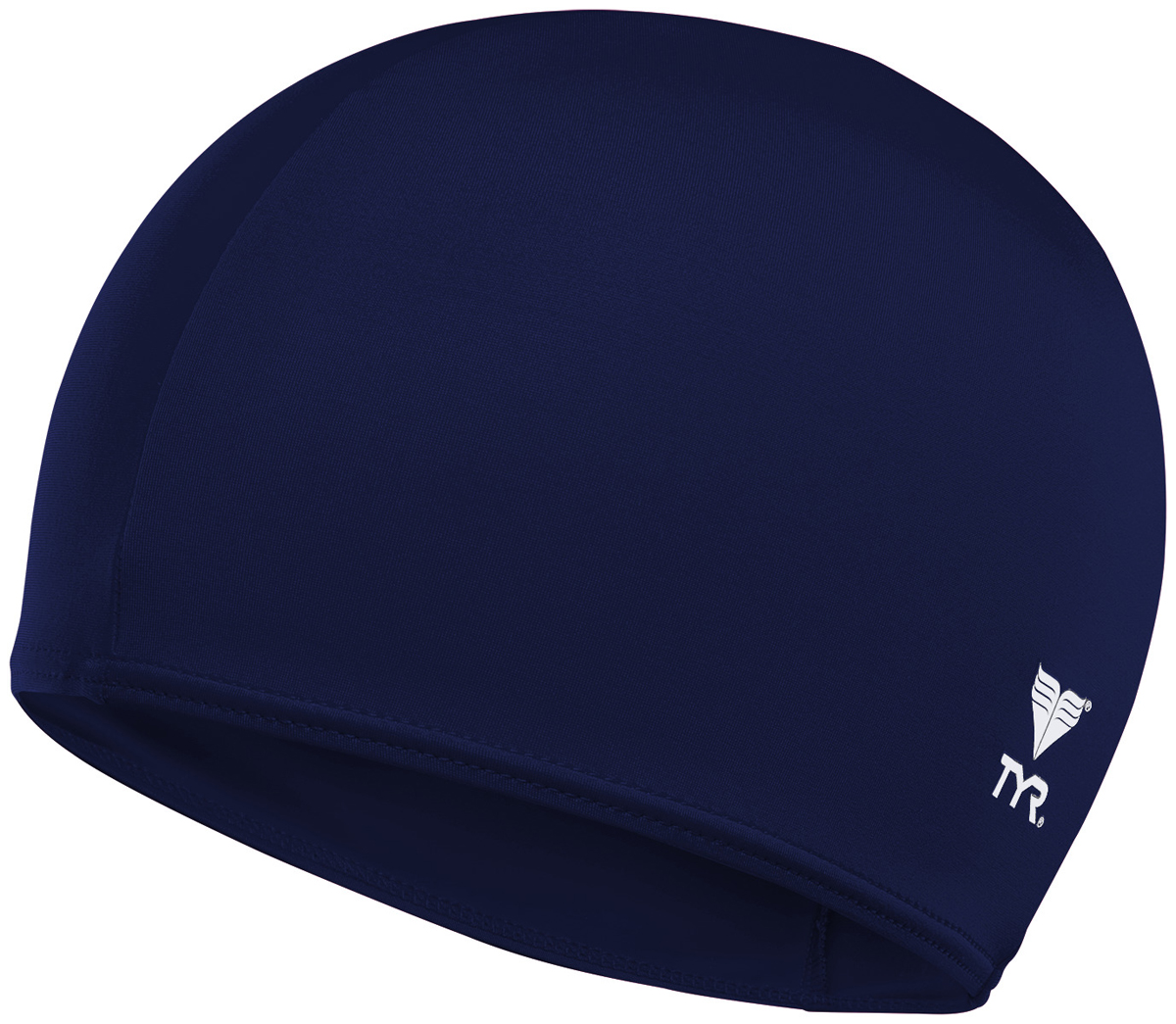 Шапочка для плавания Tyr Solid Lycra Cap, цвет: синий. LCY топ для плавания tyr tyr ty003ewxiw63