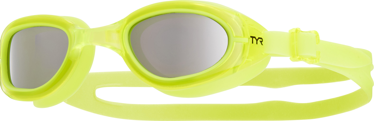 "Очки для плавания Tyr ""Special Ops 2.0 Jr. Polarized"", цвет: серебристый, желтый. LGSPJR"