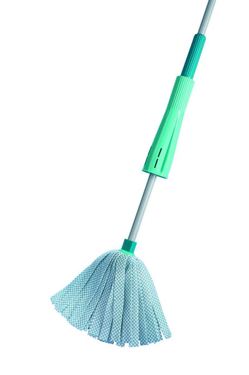 Швабра хозяйственная для пола Leifheit Wet Mop, цвет: бирюзовый насадка на швабру leifheit clean twist mop из микроволокна цвет белый бирюзовый
