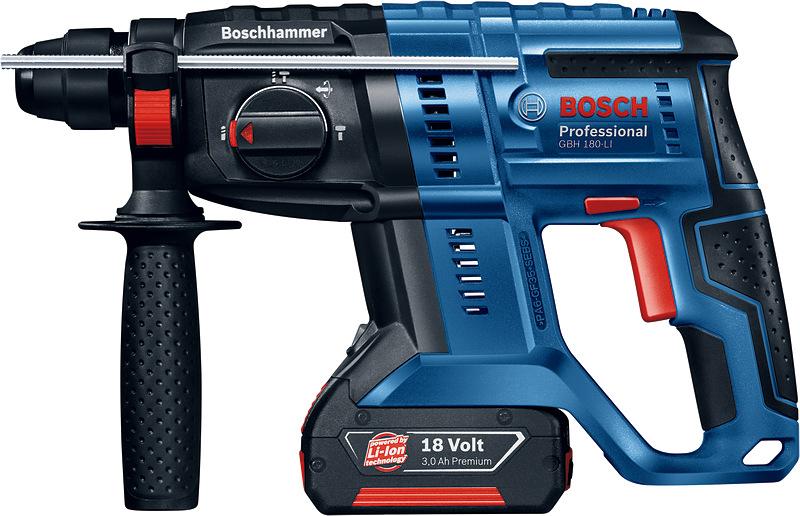 Аккумуляторный перфоратор Bosch GBH 180-Li, 2 АКБ. 0611911023 щетки угольные rd 2 шт для bosch 1607014172 5х10х17мм autostop 404 302