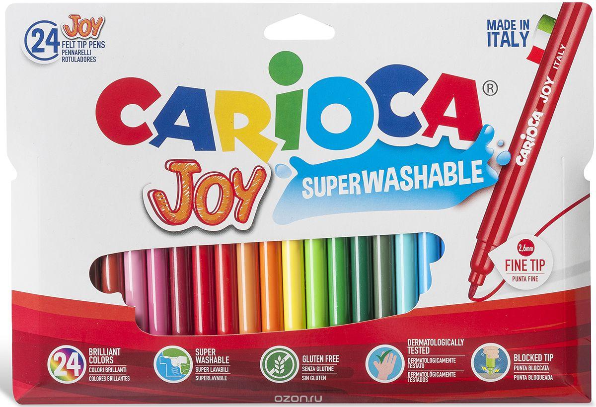 Carioca Набор фломастеров Joy 24 цвета набор фломастеров carioca bravo 24 цв в карт конверте с европодвесом 42763