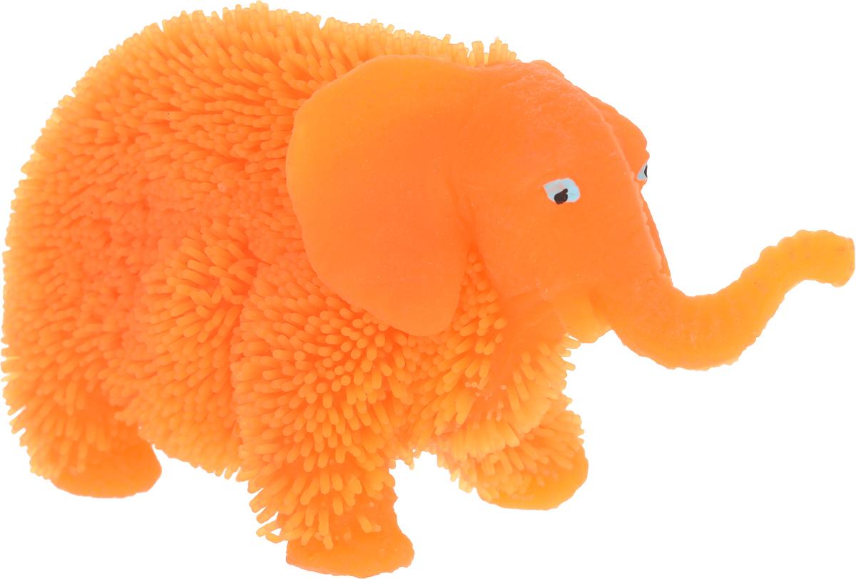 1TOY Антистрессовая игрушка Нью-Ёжики Слоник цвет оранжевый