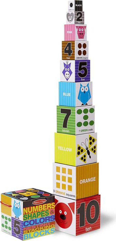 Melissa & Doug Обучающая игра Цифры формы и цвета блоки магнитные игры melissa