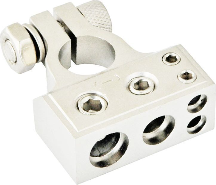Клемма аккумулятора SWAT 2GAx1+4GAx1+8GAx2, цвет: серый металлик, минусовая автоаксессуар