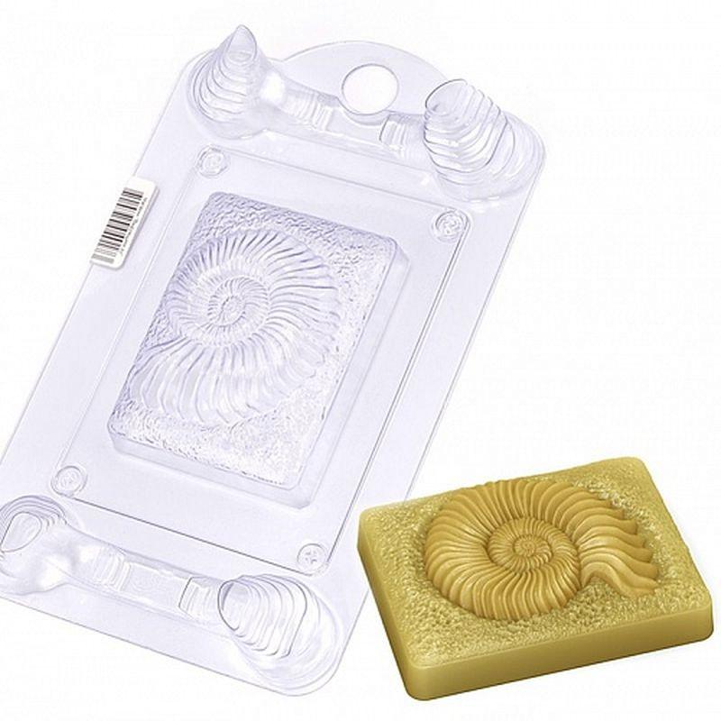 Форма для мыла Выдумщики Ракушка древняя, пластиковая, цвет: прозрачный форма для мыла выдумщики букет тюльпанов пластиковая цвет прозрачный