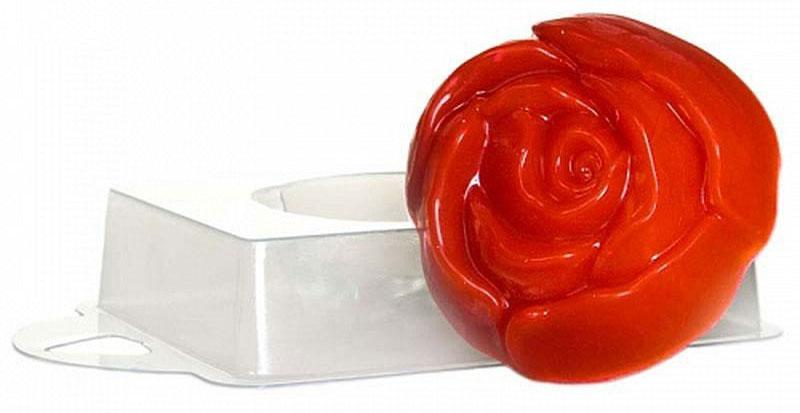 Форма для мыла Выдумщики Роза чайная, пластиковая форма для мыла выдумщики букет тюльпанов пластиковая цвет прозрачный