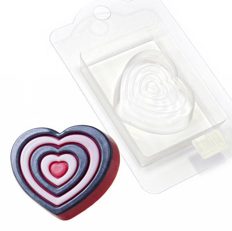 Форма для мыла Выдумщики Сердце - мишень, пластиковая форма для мыла выдумщики букет тюльпанов пластиковая цвет прозрачный