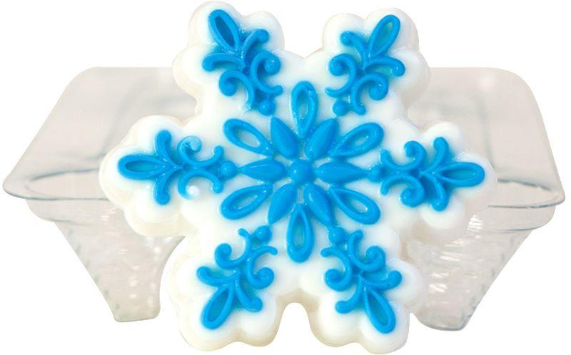 Форма для мыла Выдумщики Снежинка ажурная, диаметр 7 см форма для мыла выдумщики косичка силиконовая 11 5 х 1 см