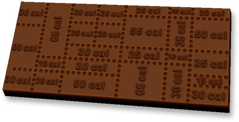Форма для мыла Выдумщики Шоколад Калории, пластиковая, цвет: прозрачный форма для мыла выдумщики букет тюльпанов пластиковая цвет прозрачный