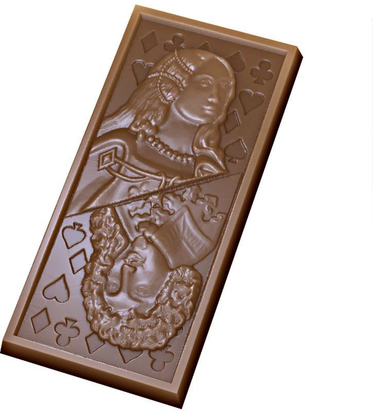 Форма для мыла Выдумщики Шоколад Карта. Дама, Король, пластиковая форма для мыла выдумщики букет тюльпанов пластиковая цвет прозрачный