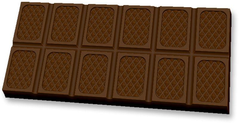 Форма для мыла Выдумщики Шоколад Оригинальный, пластиковая форма для мыла выдумщики букет тюльпанов пластиковая цвет прозрачный
