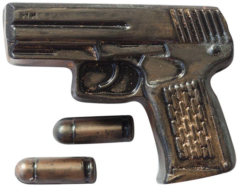 Форма для мыла Выдумщики Пистолет Беретта с пулями, пластиковая форма для мыла выдумщики букет тюльпанов пластиковая цвет прозрачный