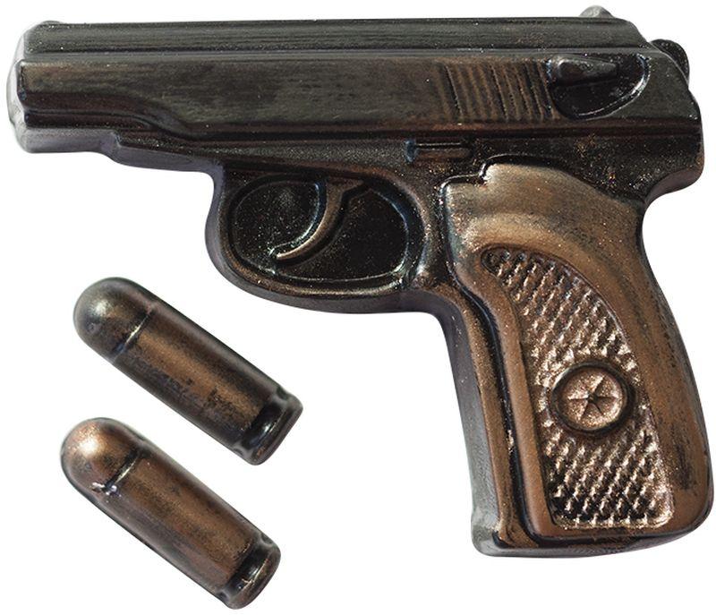 Форма для мыла Выдумщики Пистолет Макаров с пулями, пластиковая форма для мыла выдумщики букет тюльпанов пластиковая цвет прозрачный