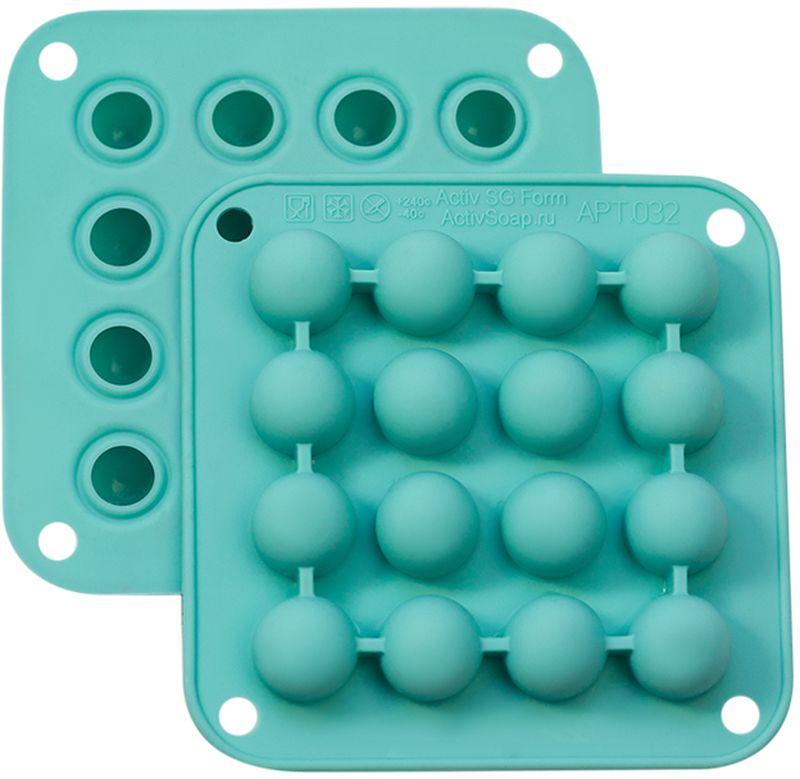 Форма для мыла Выдумщики ActivSoap. Шарики, силиконовая, цвет: бирюзовый форма для мыла выдумщики букет тюльпанов пластиковая цвет прозрачный