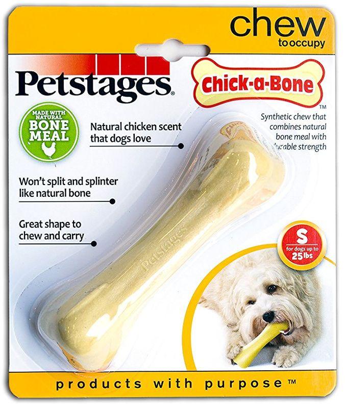 Игрушка для собак Petstages Chick-A-Bone. Косточка, с ароматом курицы, длина 11 см игрушка для собак petstages chick a bone косточка с ароматом курицы длина 8 см