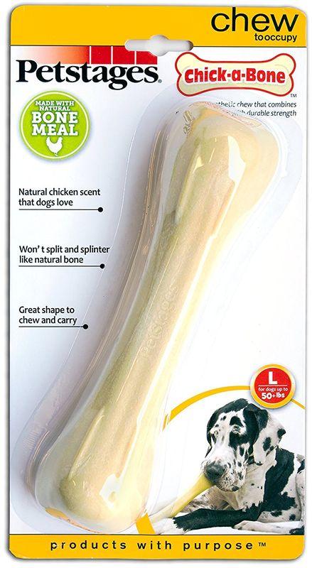 Игрушка для собак Petstages Chick-A-Bone. Косточка, с ароматом курицы, длина 18 см игрушка для собак safemade biggie bone цвет зеленый длина 20 см