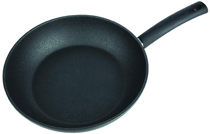 Сковорода глубокая Rondell Mustang, с антипригарным покрытием. Диаметр 28 см сковорода rondell jersey с антипригарным покрытием диаметр 26 см
