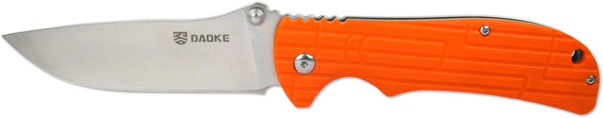 Нож складной Daoke, цвет: оранжевый, длина клинка 8,9 см. D505o