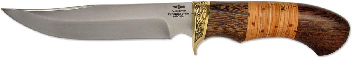 Нож нескладной Ножемир Зверобой, цвет: бежевый, темно-коричневый, длина клинка 14 см нож охотничий ножемир казачий цвет темно коричневый длина клинка 24 1 см