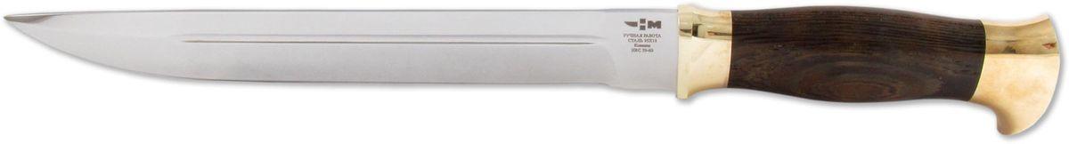 Нож охотничий Ножемир Казачий, цвет: темно-коричневый, длина клинка 24,1 см нож охотничий ножемир казачий цвет темно коричневый длина клинка 24 1 см
