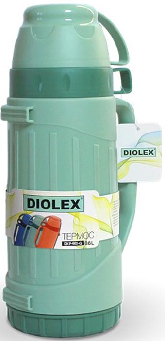 Термос Diolex, цвет: зеленый, 600 мл цена