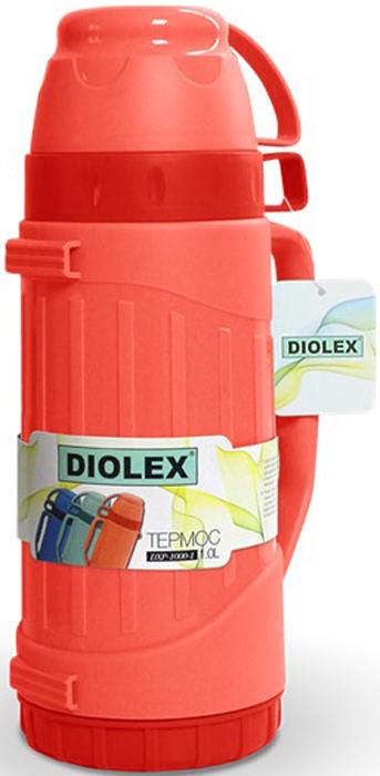 Термос Diolex, цвет: красный, 1 л мойка кухонная dr gans дора белый 25 015 b0435 401