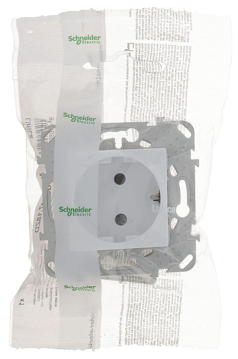 Фото - Механизм розетки Schneider Electric Unica, одноместный, с защитной шторкой, с заземлением, цвет: белый. MGU5.037.18ZD механизм розетки simon 15 tv сп одиночная цвет белый 1591475 030
