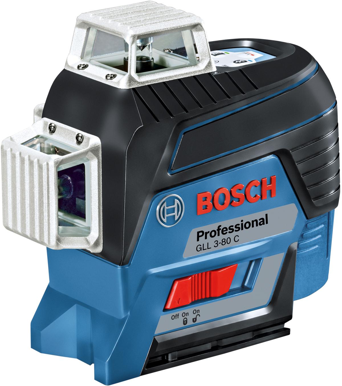 Лазерный нивелир Bosch GLL 3-80 C, + штатив BT 150, вкладка L-Boxx. 0601063R01