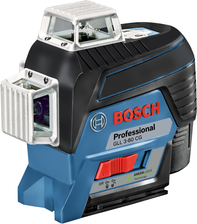 Лазерный нивелир Bosch GLL 3-80 CG + держатель BM 1 + АКБ 12 V, L-Boxx. 0601063T00 аккумулятор bosch gba 12 v 3 0ah professional 1600 a 00 x 79