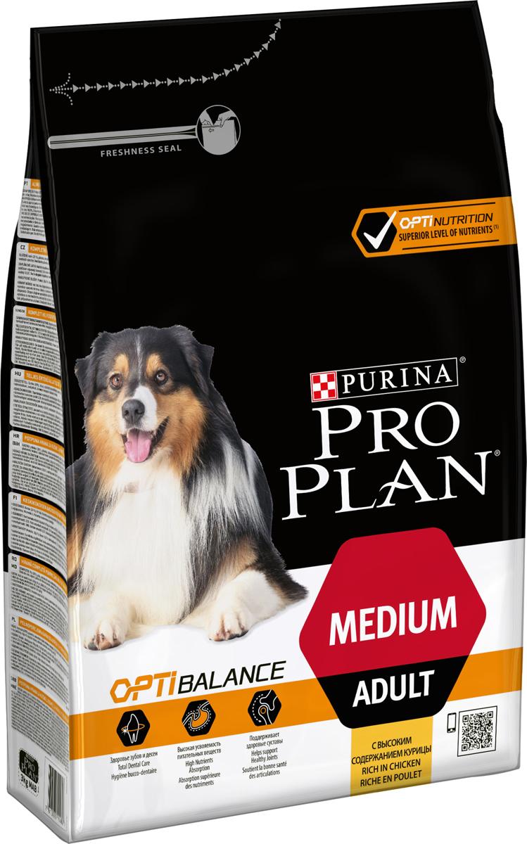 """Корм сухой Pro Plan """"Adult Original"""" для взрослых собак средних пород, с курицей и рисом, 3 кг"""