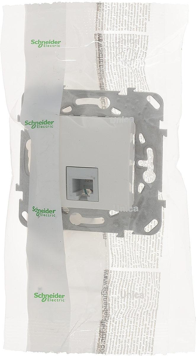 Фото - Механизм телефонной розетки Schneider Electric Unica, одноместный, RJ11, цвет: бежевый. MGU5.492.25ZD механизм розетки simon 15 tv сп одиночная цвет белый 1591475 030