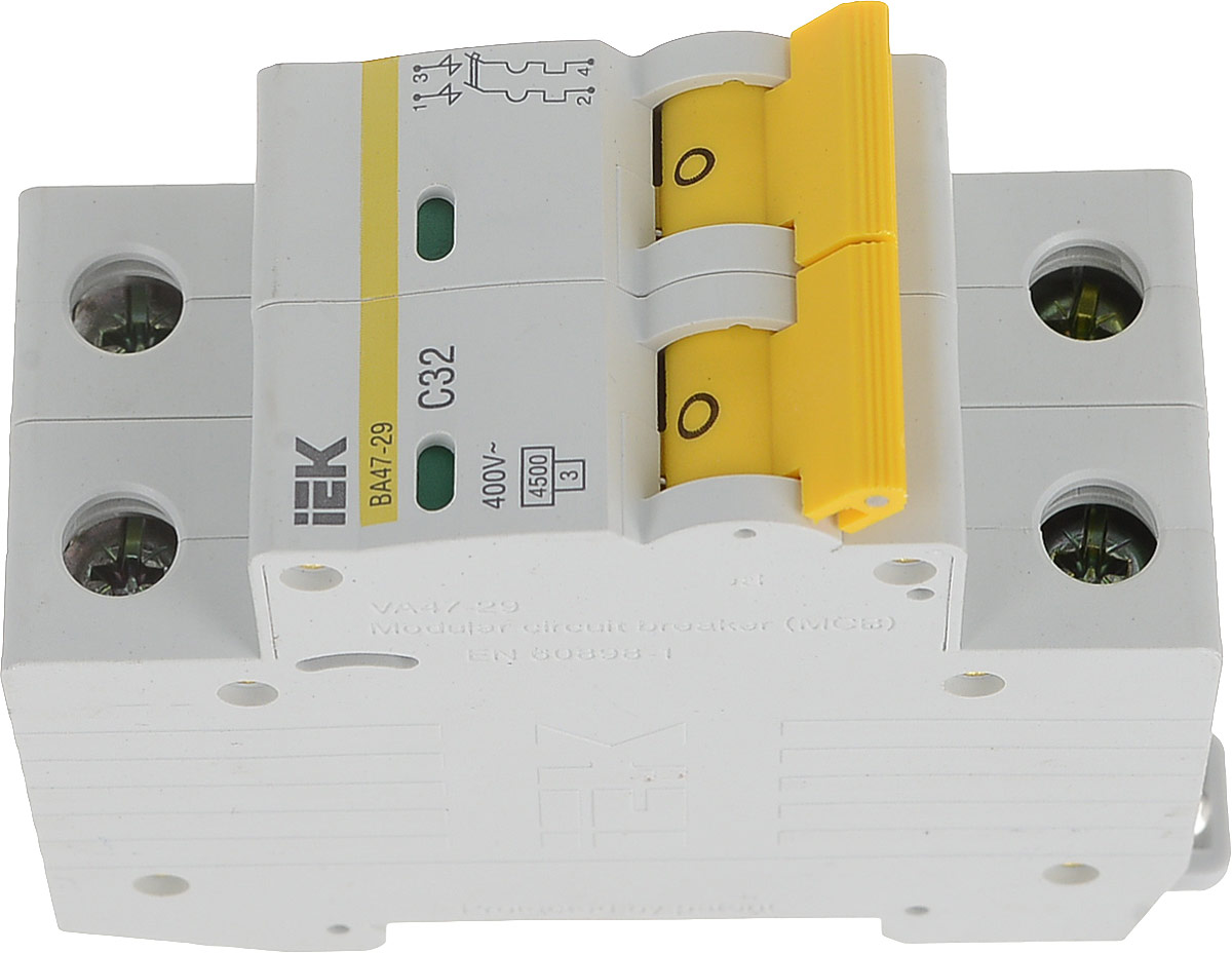 Выключатель автоматический IEK ВА 47-29, 2П С 32А 4500A