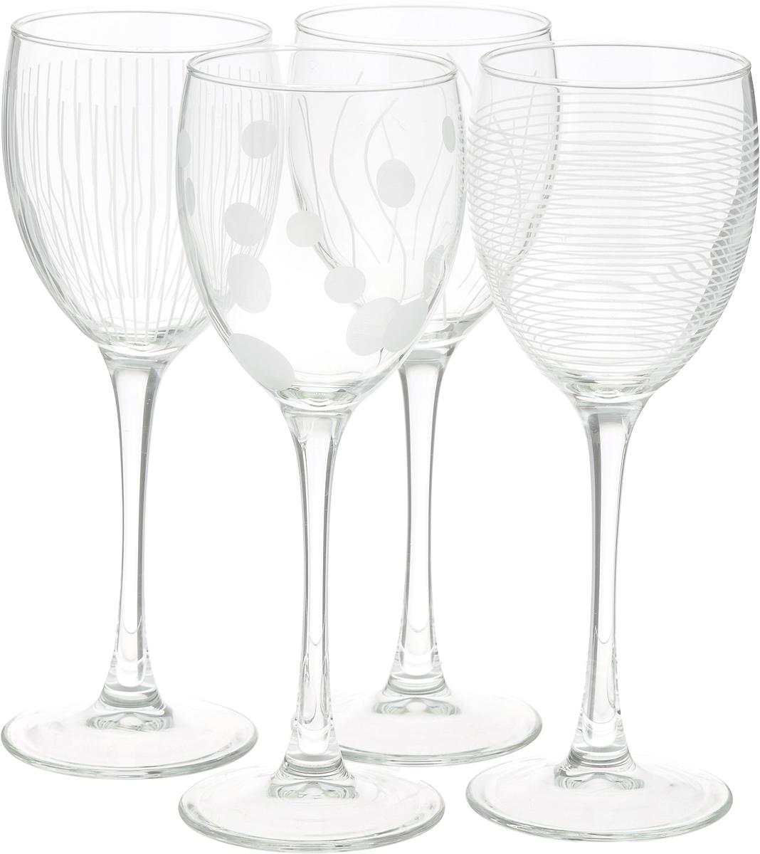 Набор фужеров для вина ОСЗ Лаунж Клаб, 250 мл, 4 шт набор стопок luminarc лаунж клаб 4шт 50мл стекло
