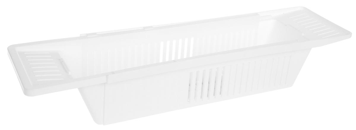 Полка для ванны Berossi Toys, цвет: снежно-белый, 79,6 х 15, 1 х 9,9 см ершик для унитаза berossi eco с подставкой цвет снежно белый 15 7 х 47 5 см