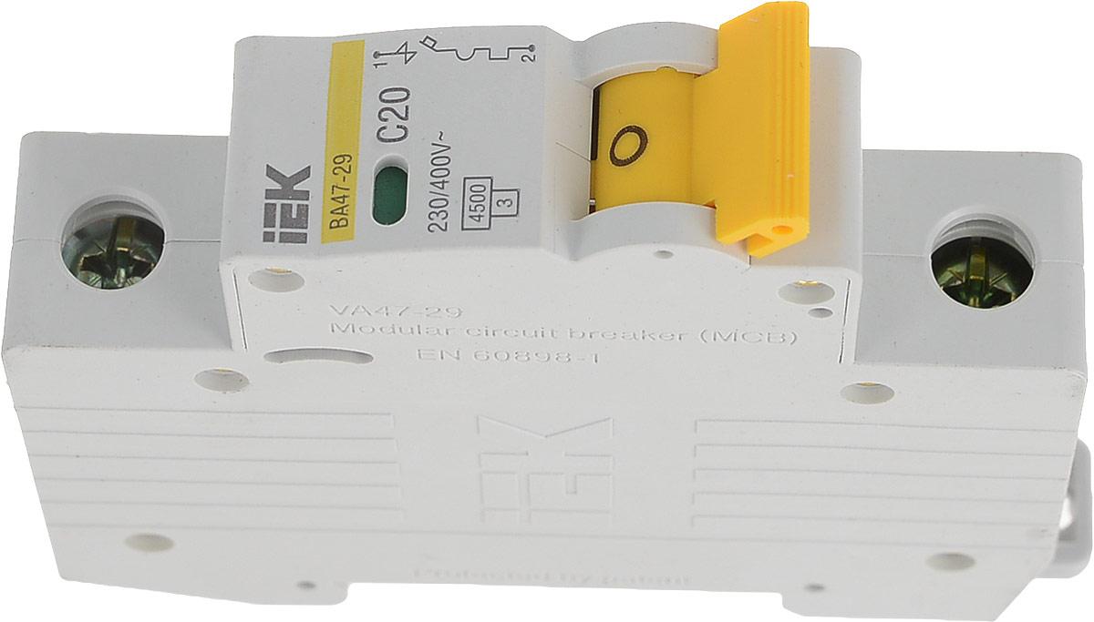 Выключатель автоматический IEK ВА47-29, 1П C 20А 4500А
